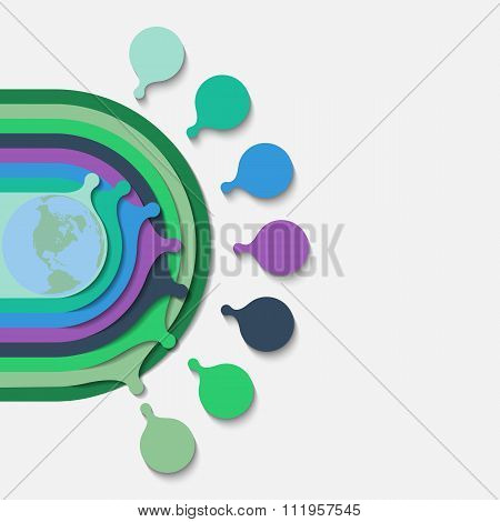 Infographics Of Concentric Circles. Multicolored 3D Template For Demonstrating Options In Presentati