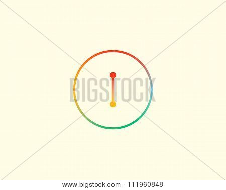 Abstract letter I logo design template. Colorful lined creative sign. Universal vector icon.