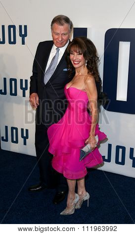 NEW YORK-DEC 13: Actress Susan Lucci (R) and husband Helmut Huber attend the