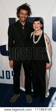 NEW YORK-DEC 13: Actress Isabella Rossellini (R) and son Roberto Rossellini attend the