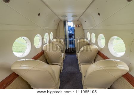 Interior Of The Airplane.
