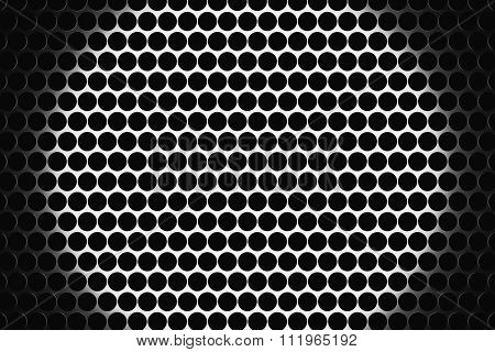 Metal Speaker Grill Texture For Using As Background.