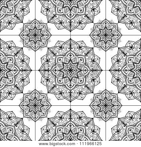 Stylized Tiles Of Mandalas.