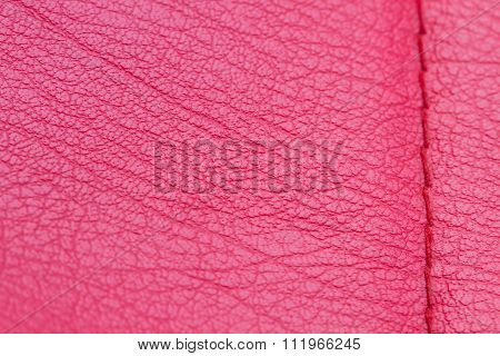 Red Leather Texture Background