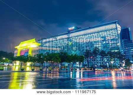 Seoul, South Korea - August 16, 2015: City Hall Building Of Seoul Metropolitan Government Shot At Ni