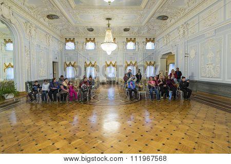 Nizhny Novgorod, Russia - 03.11.2015. Ballroom in  museum estate  Rukavishnikov