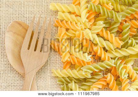 Three Colors Rotini Pasta