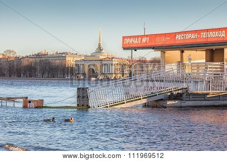 Flood In Saint Petersburg, Russia