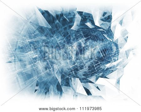 Abstract Digital Background, Cloud Computing 3D