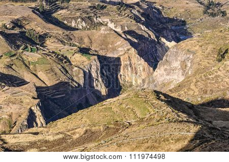View Of The Valley In The Colca Canyon, Peru