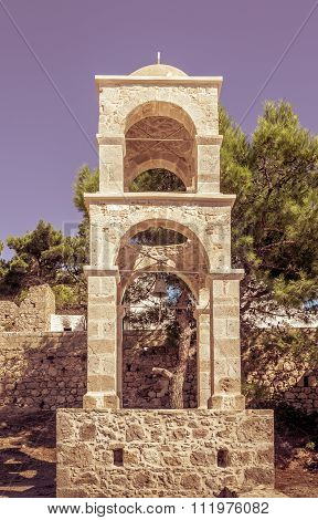 Bell Tower In Greece
