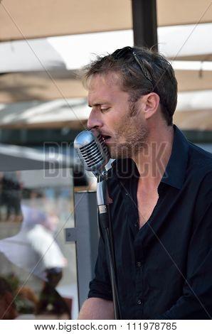 Singer. Annual Avignon Theater Festival