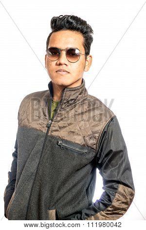 Portrait Of Stylished Man