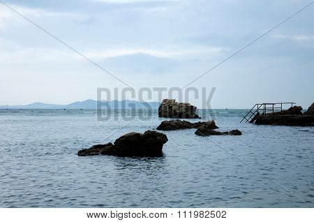 Dock on Bohai Sea China