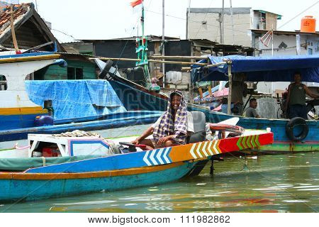 Urban slums, Jakarta, Indonesia