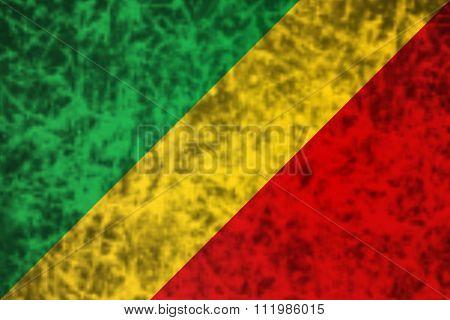 Flag Of Republic Of The Congo.