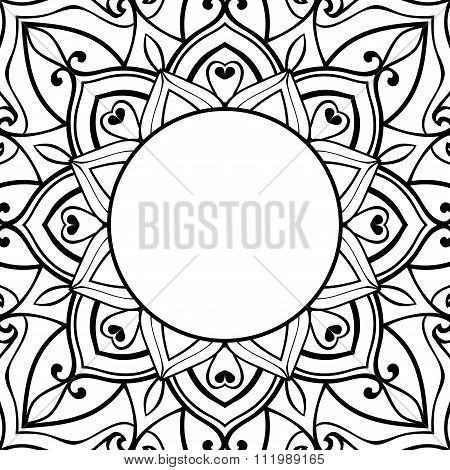 Sketch For Ornamental Frame.
