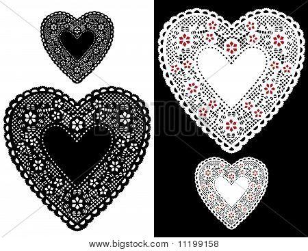 Heart Lace Doilies
