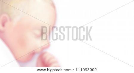 The illustration of sleeping newborn baby