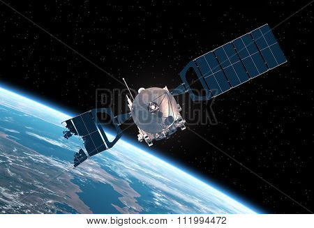 Crashed Satellite Orbiting Earth