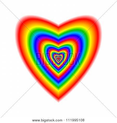 Big Heart In Rainbow Colors