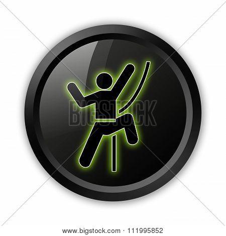 Icon, Button, Pictogram Rock Climbing