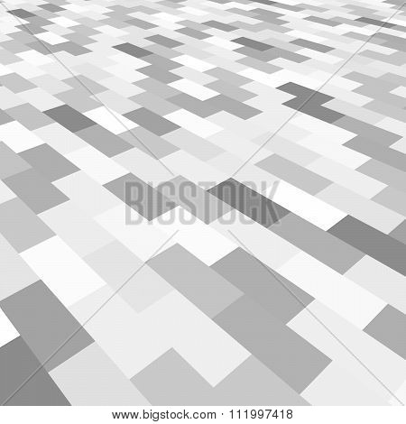 Diagonal gray tile walkway texture with a perspective