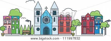 City with big church