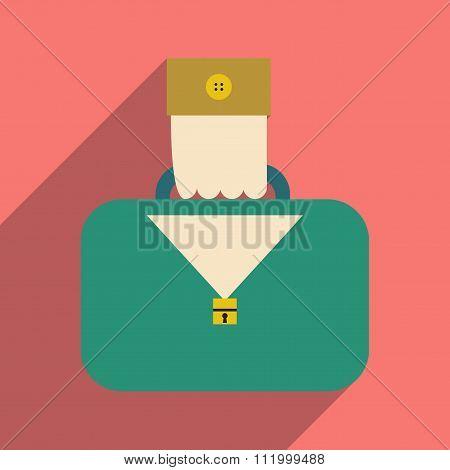 Flat design modern vector illustration icon case in hand