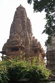 pic of kandariya mahadeva temple  - Exterior decorations of the Kandariya Mahadeva Temple at Khajuraho in India Asia - JPG