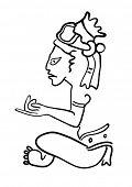 Постер, плакат: Maya Image of the ancient Deity
