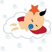 picture of have sweet dreams  - cute baby have his sweet dream at cloud - JPG