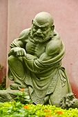 picture of stature  - buddhist saint stature at an ordinary chinese temple - JPG
