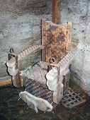 stock photo of torture  - A spiky torture chair from the  - JPG
