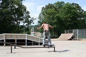 Teen Boy Skateboarding Outdoors 5 poster