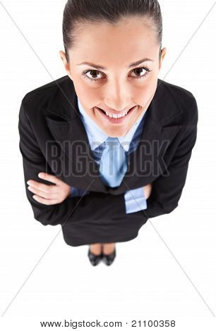 Smiling Funny Businesswoman