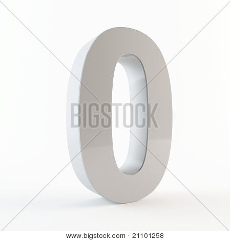 3D number 0