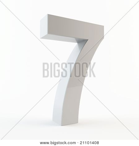 3D number 7