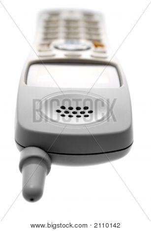 White Cordless Phone. Laying Down