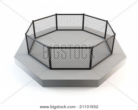 MMA octagon ring