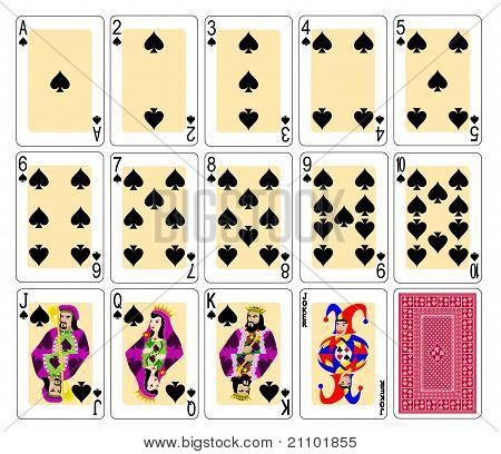 Playing Cards spades