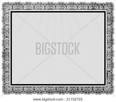 Vector Ornate Vintage Frame. Easy to edit. Perfect for diplomas, certificates, and other ornate designs.