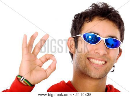 Cool Guy Doing The Ok Sign