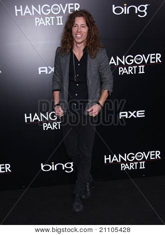 "LOS ANGELES - JUN 19:  Shaun White arrives to the""The Hangover Part 2"" Los Angeles Premiere  on June 19,2011 in Hollywood, CA"