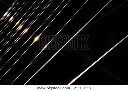 Sunset Lights On Rails