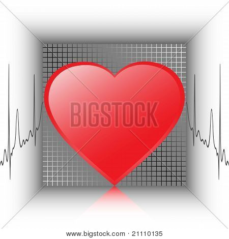 The heartbeat, vector illustration