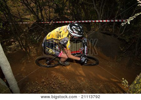 Eszter Erdelyi Riding Through Singletrack