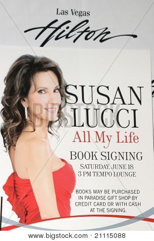 LAS VEGAS - JUN 18:  Susan Lucci Poster at the booksigning for
