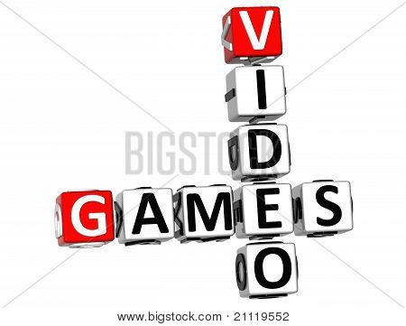 3D Video Games Crossword