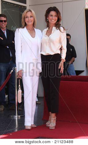LOS ANGELES - JUN 02:  Bo Derek & Shania Twain Walk of Fame Honors Shania Twain  on June 02,2011 in Hollywood, CA